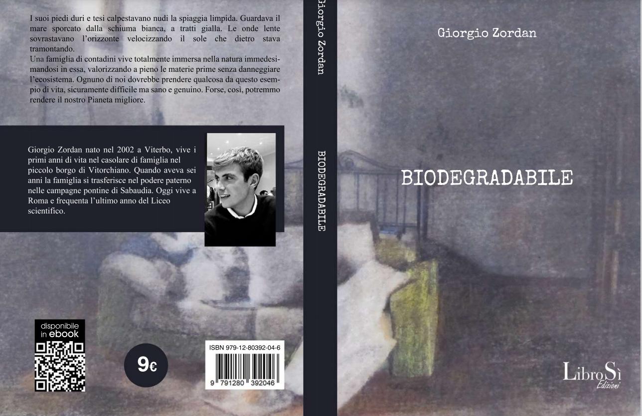 """Guardiamo ai nonni per salvare la terra"""": """"Biodegradabile"""", il libro del  18enne Giorgio Zordan - Orvietosì.it"""